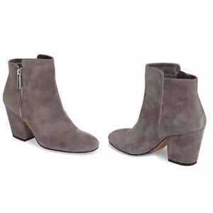 NWB 1. State Grey Jacend Suede Booties
